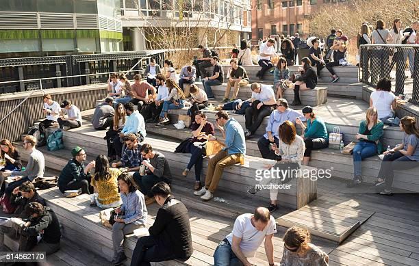 Social gathering on the HighLine Park