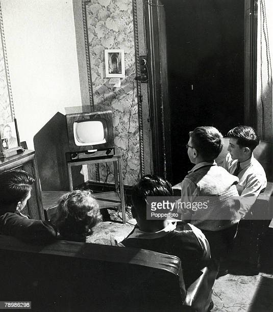 1951 A family in Bolton England gathered around the television set