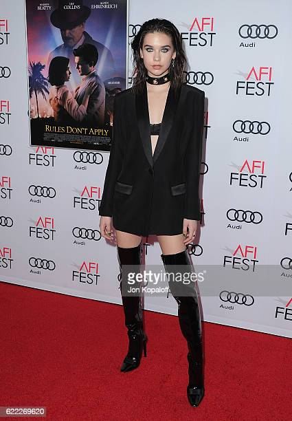 Social influencer Amanda Steele arrives at AFI FEST 2016 Presented By Audi Opening Night Premiere Of 20th Century Fox's 'Rules Don't Apply' at TCL...