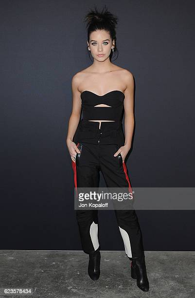 Social influencer Amanda Steele arrives at the screening Of David O Russell's 'Past Forward' hosted by Prada at Hauser Wirth Schimmel on November 15...