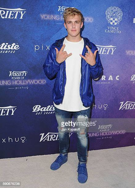 Social Influencer Jake Paul arrives at Variety's Power Of Young Hollywood at NeueHouse Hollywood on August 16 2016 in Los Angeles California