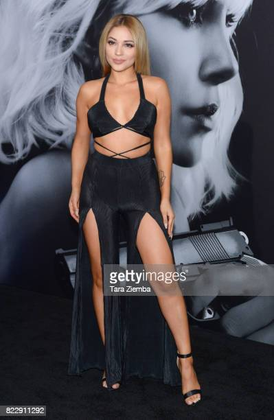 Social influencer Josephine Ochoa attends Focus Features' 'Atomic Blonde' at The Theatre at Ace Hotel on July 24 2017 in Los Angeles California