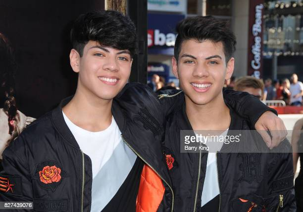 Social influencers of 99GoonSquad Jovani Jara and Julian Jara attend the premiere of New Line Cinema's' 'Annabelle Creation' at TCL Chinese Theatre...