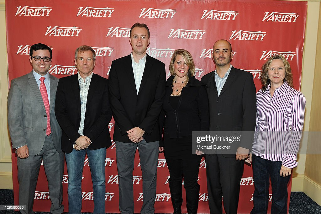 Social Media Agent UTA@Kuhn Eric Kuhn, General Manager Turnerfish, Comcast John McCrea, SVP & GM CBS Interactive Marc DeBevoise, SVP Digital Oxygen Media Jennifer Kavanagh, CEO & Co-Founder Whosay Steve Ellis and SVP Marketing, FX Network Sally Daws attend Variety's 2011 Entertainment And Technology Summit at Ritz Carlton Hotel on October 17, 2011 in Marina del Rey, California.