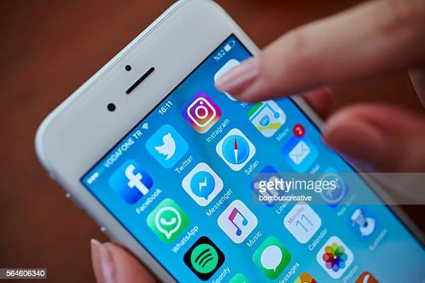 Applications de médias sociaux icônes d'