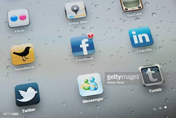 Aplicações de redes sociais em Apple iPad 2