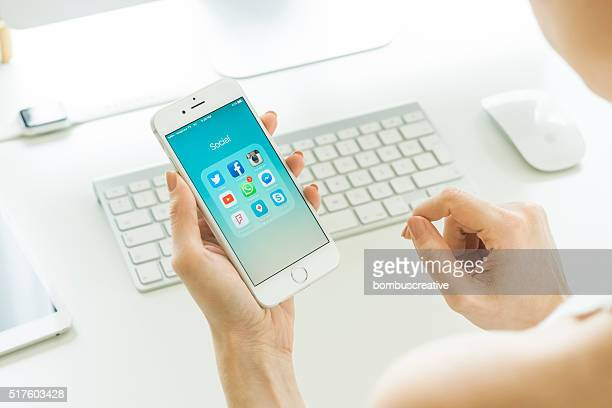 Les médias sociaux Apps sur Apple iPhone 6 s
