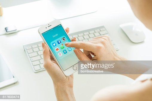 のソーシャルメディアアプリ、Apple iPhone 6 S