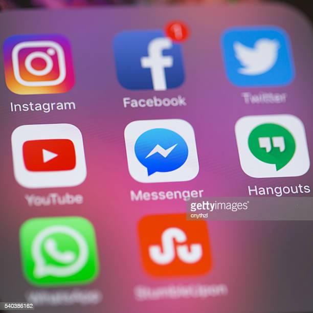 Les médias sociaux Applications sur iPhone 6S