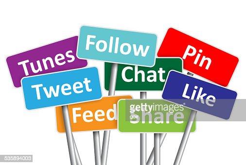 Social-media-Banner : Stock-Foto