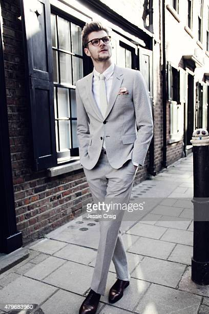 Social media blogger Jim Chapman is photographed for Article magazine on March 6 2015 in London England