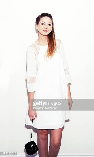 Social media blogger Zoe Sugg is photographed for the Telegraph on July 29 2014 in London England