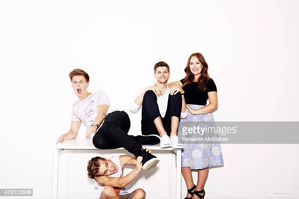 Social media bloggers Casper Lee Joe Sugg Jim Chapman and Tanya Burr are photographed for the Telegraph on July 29 2014 in London England