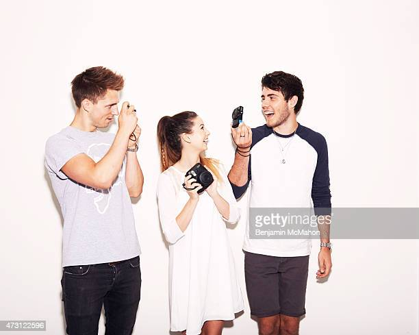 Social media bloggers Marcus Butler Zoe Sugg and Alfie Deyes are photographed for the Telegraph on July 29 2014 in London England