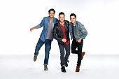 Social media buzz band Boyce Avenue Alejandro Luis Manzano and his brothers Daniel Enrique Manzano Fabian Rafael Manzano are photographed for...