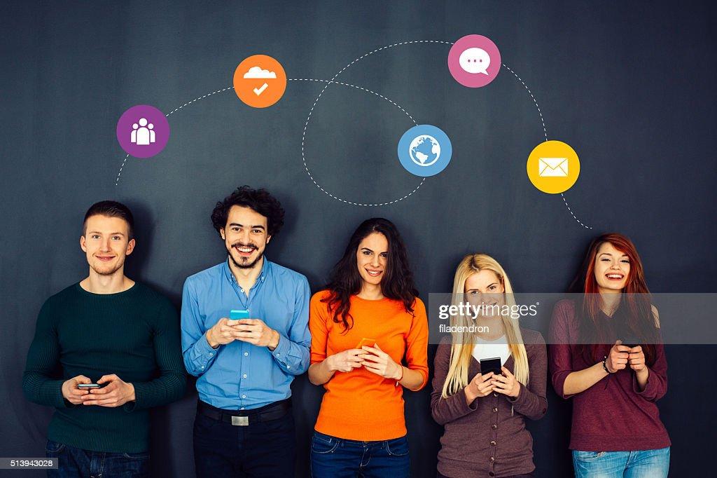 Social media concept : Stock Photo