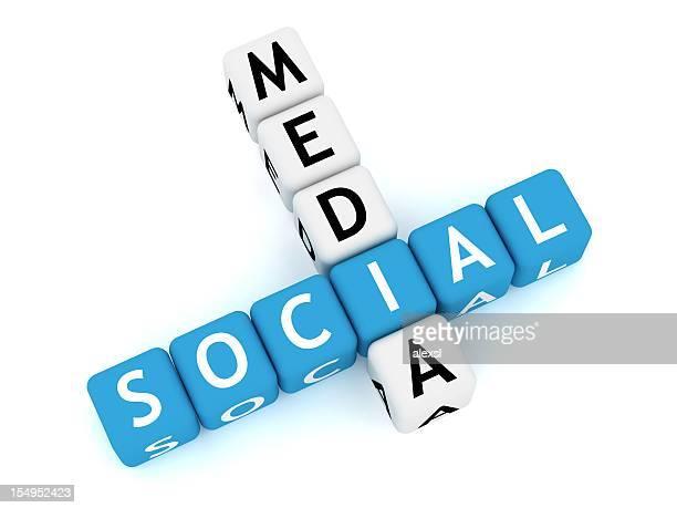 Social Media palavras cruzadas