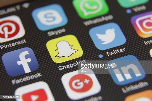 Social media icons applications