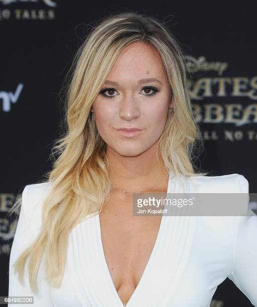 Social Media influencer Alisha Marie arrives at the Los Angeles Premiere 'Pirates Of The Caribbean Dead Men Tell No Tales' at Dolby Theatre on May 18...