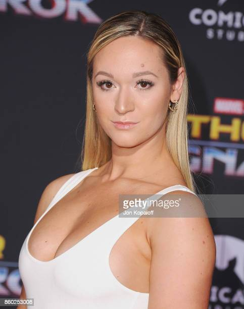 Social media influencer Alisha Marie arrives at the Los Angeles Premiere 'Thor Ragnarok' on October 10 2017 in Hollywood California