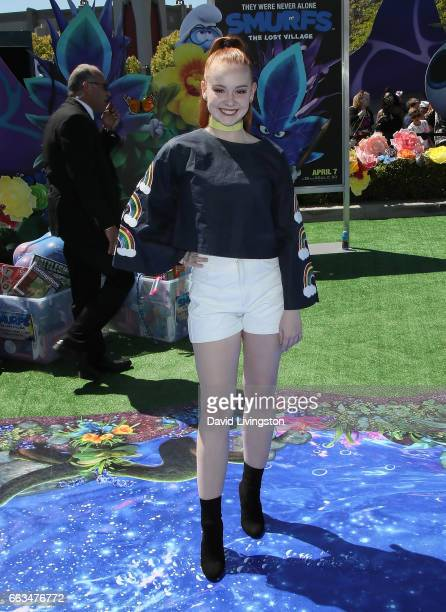 Social media influencer Ashleigh Ross attends the premiere of Sony Pictures' 'Smurfs The Lost Village' at ArcLight Cinemas on April 1 2017 in Culver...