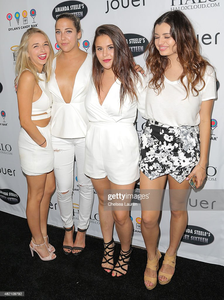 Social media influencer Jenn McAllister and social media influencer / singer Rebecca Black arrive at Amanda Steele's sweet 16 party on July 26 2015...