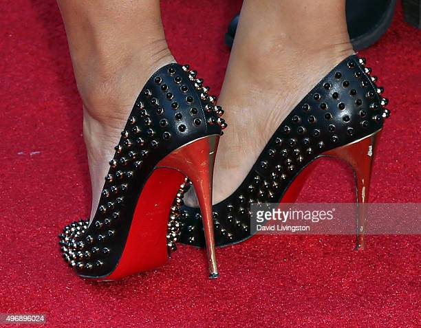 Social media influencer Lexi Noel shoe detail attends the premiere of CBS Films' 'Love the Coopers' at Park Plaza at The Grove on November 12 2015 in...