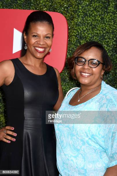 Social media influencers Constance Knight and Ladawn Cribbs attend the YouTube Pre BET Awards Showcase at NeueHouse Hollywood on June 24 2017 in Los...