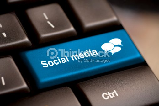 Social media keyboard for chatting : Stock Photo
