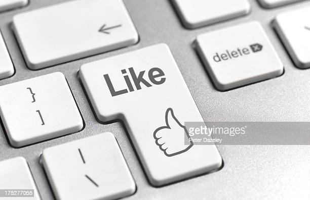 Social media 'Like' symbol on keyboard