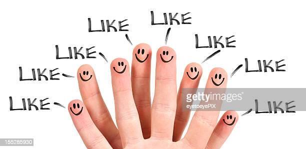 """Les médias sociaux de """"J'aime"""""""