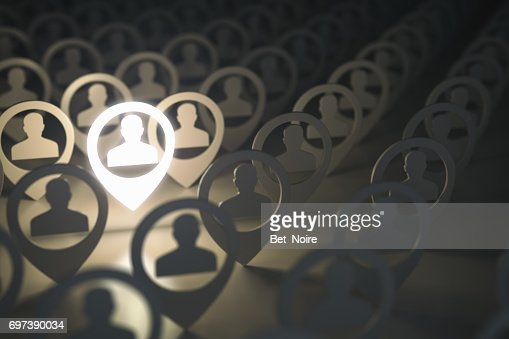 Social media network, searching for professional stuff, employment concept. : Stock Photo