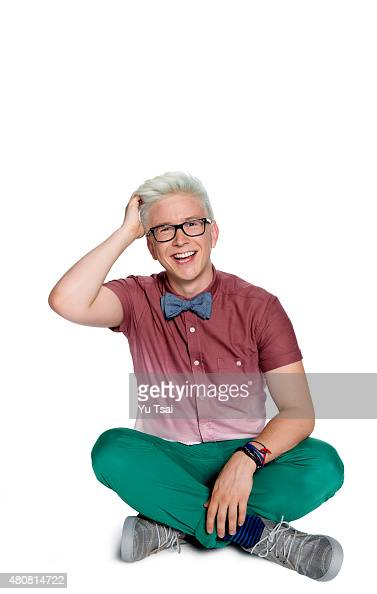 Social media star Tyler Oakley is photographed for Seventeen Magazine on June 26 2015 in Los Angeles California ON DOMESTIC EMBARGO UNTIL SEPTEMBER 1...