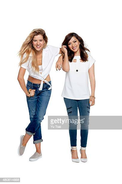 Social media stars Meghan Rienks and Heart Defensor is photographed for Seventeen Magazine on June 26 2015 in Los Angeles California ON DOMESTIC...