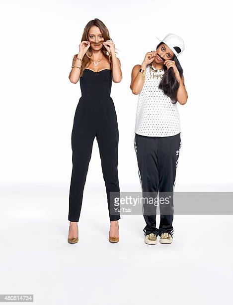 Social media stars Taryn Southern and Lilly Singh are photographed for Seventeen Magazine on June 26 2015 in Los Angeles California ON DOMESTIC...