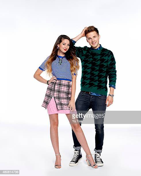 Social media stars Zoe Elizabeth Sugg better known as Zoella and Marcus Butler are photographed for Seventeen Magazine on June 26 2015 in Los Angeles...