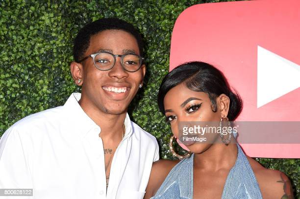 Social meida influencers De'arra and Ken attend the YouTube Pre BET Awards Showcase at NeueHouse Hollywood on June 24 2017 in Los Angeles California