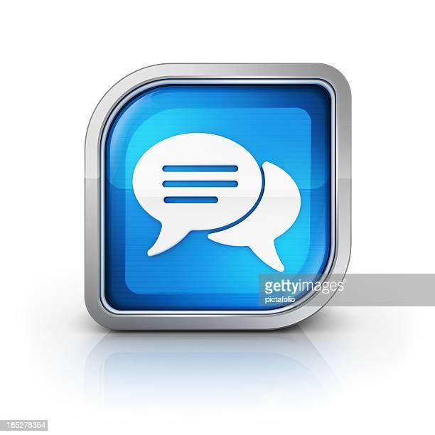 Gesellschaftliche Botschaft oder das Symbol comment (Anmerkungen