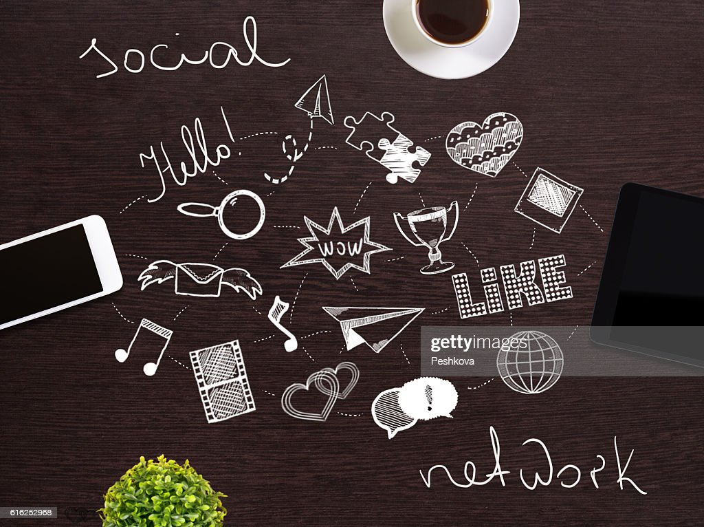 Social network concept : Stock Photo