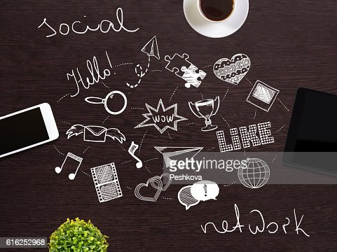 Concepto de red Social  : Foto de stock