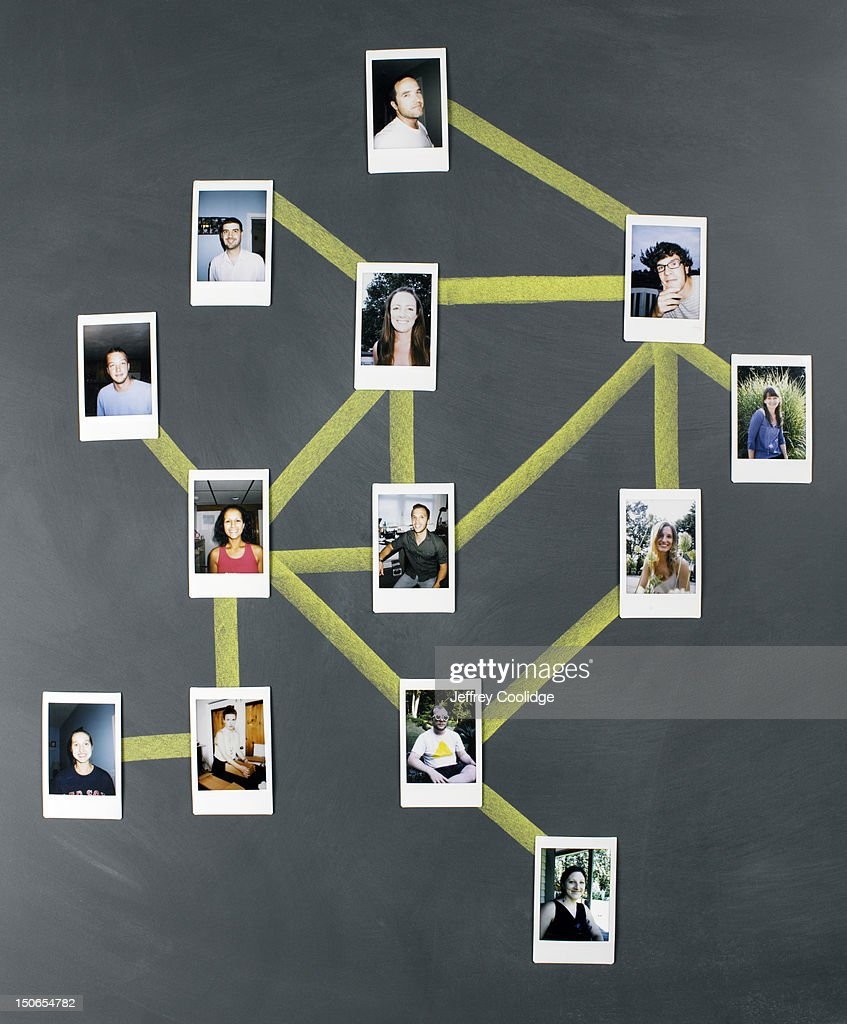 Social Network Diagram : Stock Photo