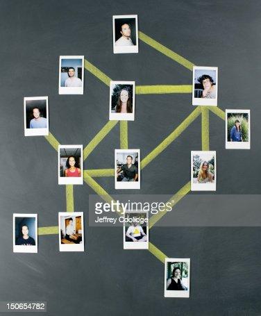 Social Network Diagram : Stockfoto