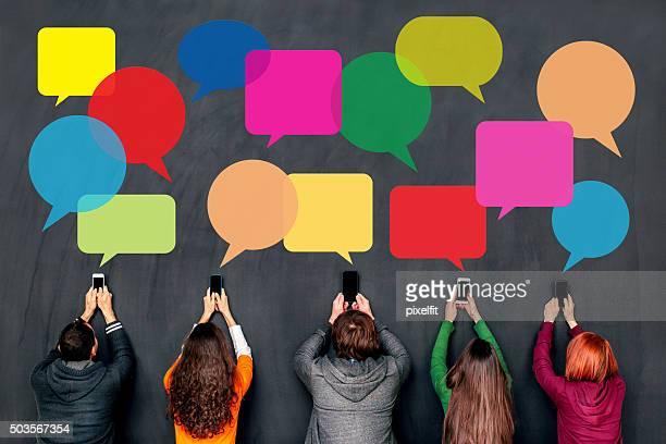 concept de réseau Social personnes