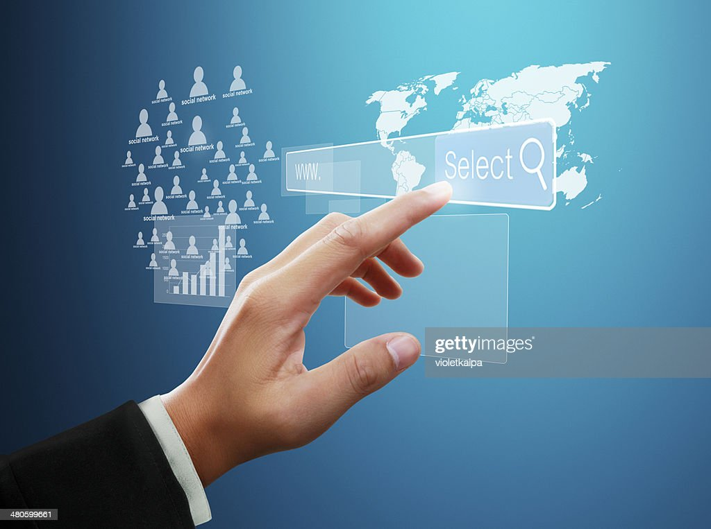 social network structure : Stock Photo