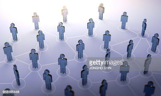 Social network,3d illustration : Stock Photo