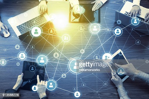Social networking concept. : Stock Photo