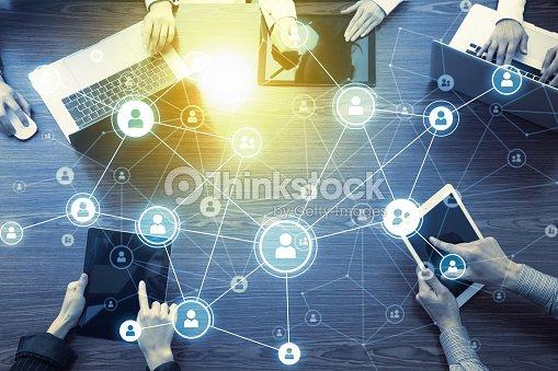 Social-Networking-Konzept. : Stock-Foto