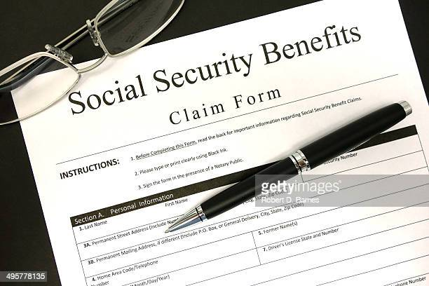 Social Security Form Stock Photos And Pictures  Getty Images