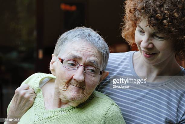 social worker and senior woman