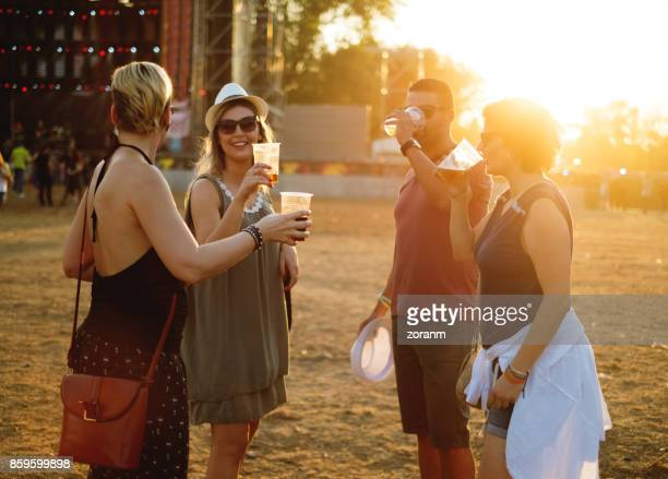 Socialilzing at music festival